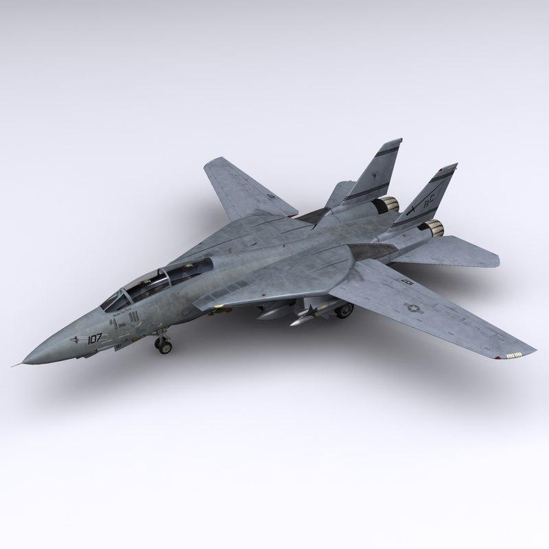 3d f-14 fighter jet f-14b model