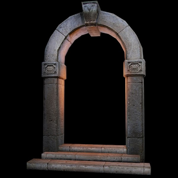 max antique medieval door portal