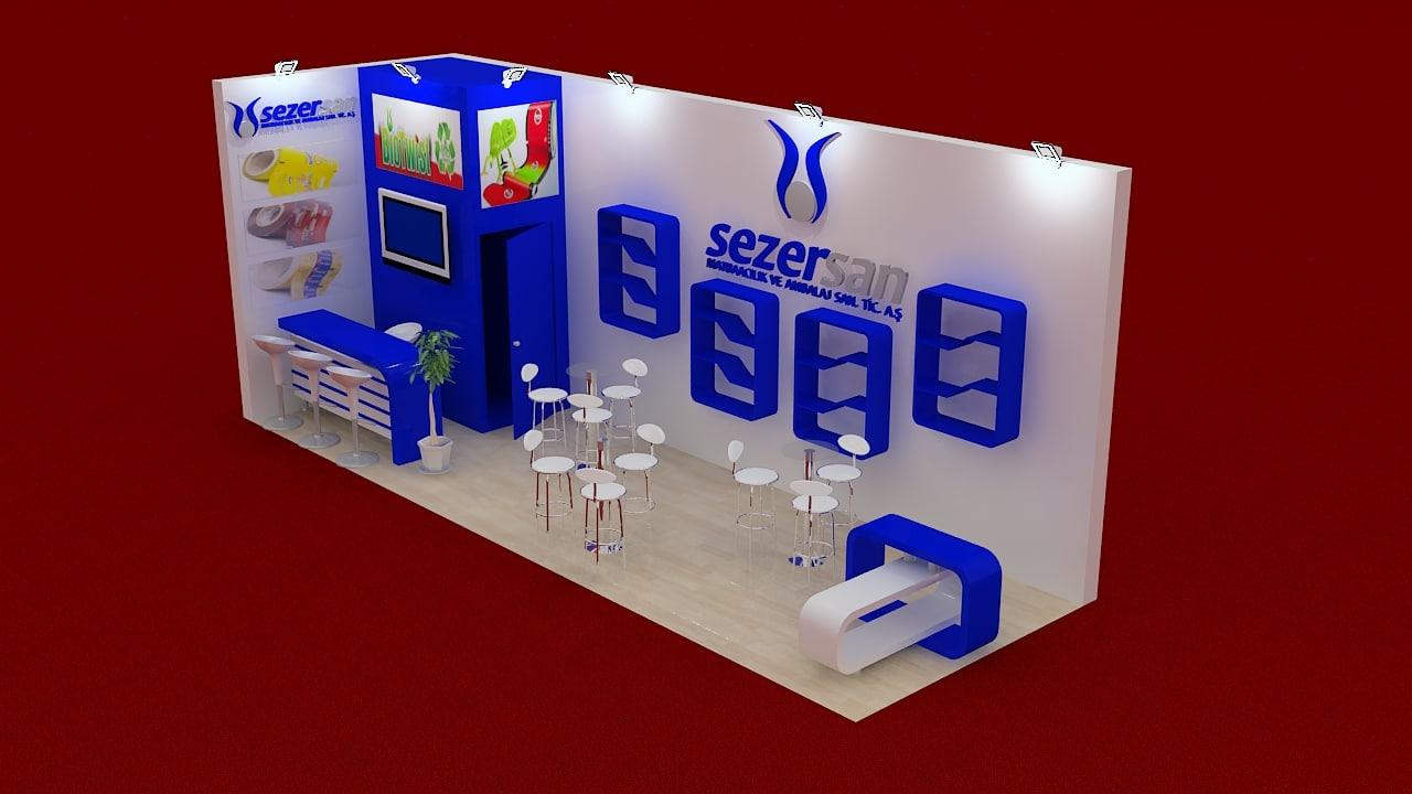 fair exhibition stand 3d max