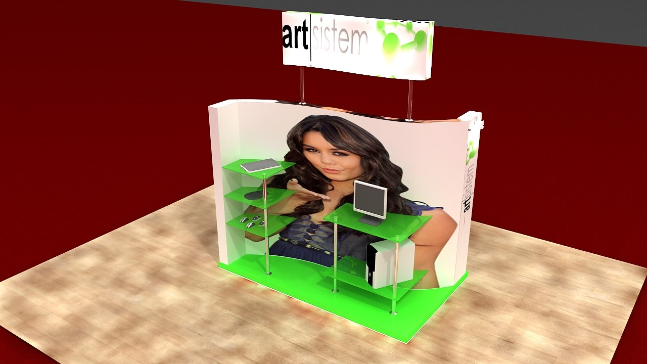 3d service display stand