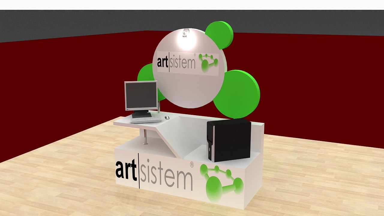 3d max service display stand