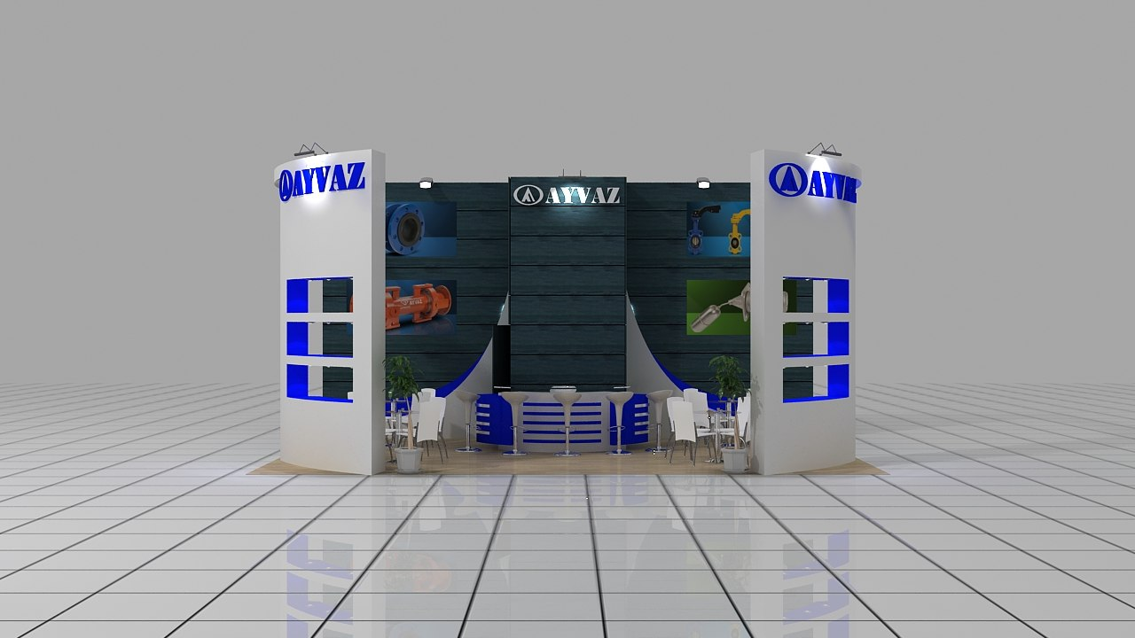 3d service stand exhibition