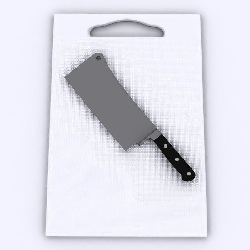 knife board 3d model