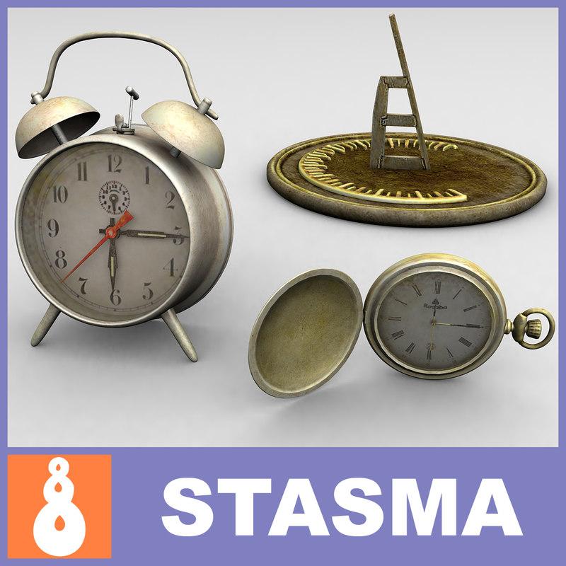 3ds max 3 clock