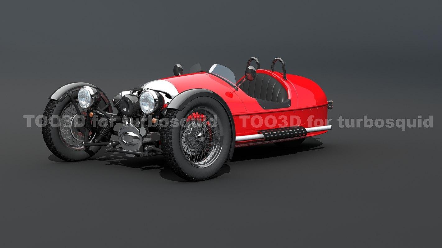 3d 3 wheels model