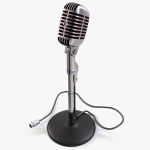 realistic shure microphone mic c4d