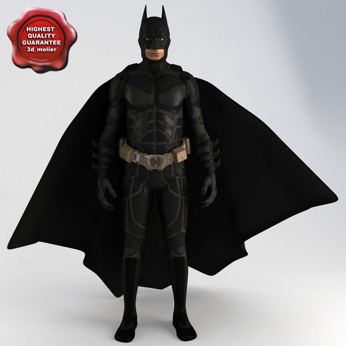 batman pose2 3d model