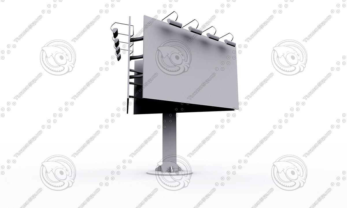 billboard stand 3d model