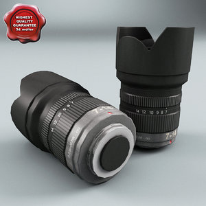 3d model of camera kit lens v3