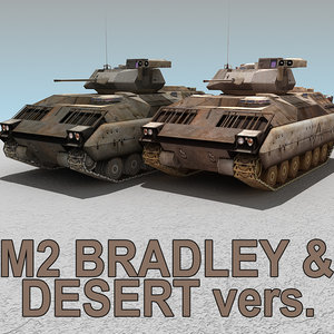 m2 bradley desert 3d model