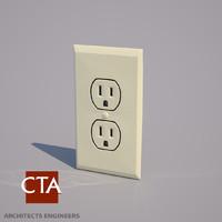 power outlet 3d model