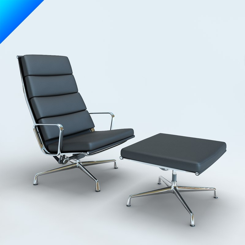 Aluminium chair 3d model - Originele eames fauteuil ...