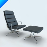 aluminium chair 3d model