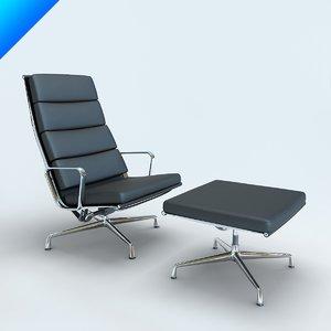 aluminium chair 3d model