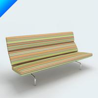 3ds max charles eames vitra sofa compact