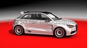 audi le mans racing car 3d model