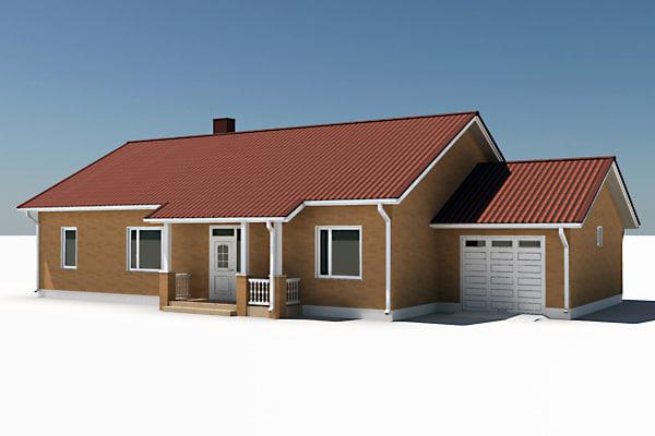 3d story single family house model