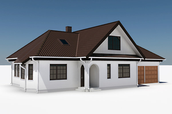 story single family house 3d model