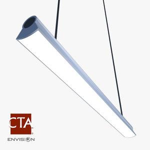 3d fluorescent ceiling light