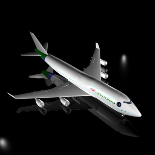 3d model boeing 747 400