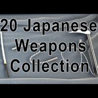 3d 20 japanese weapons model