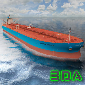 oil tanker ship 300000dwt 3d model