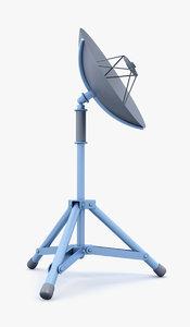 3d mobile satellite dish