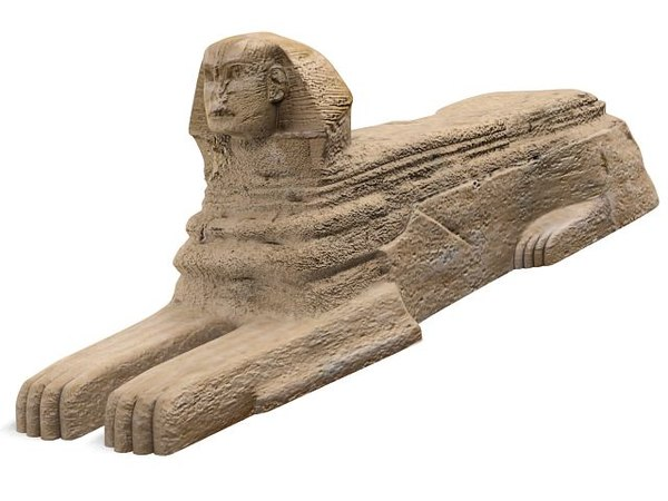 3d model sphinx landmark