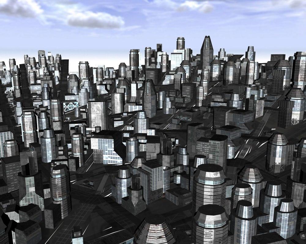 3d model spiral city