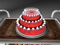 3d trolly cake model