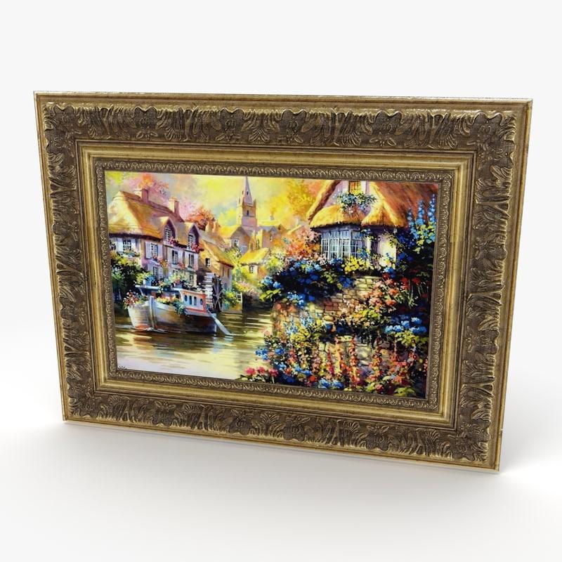 3ds antique painting