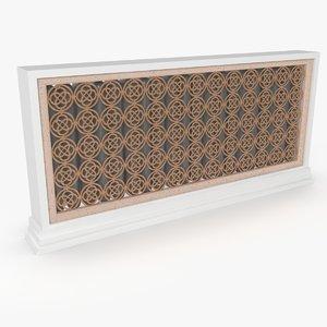 free radiator decorative 3d model