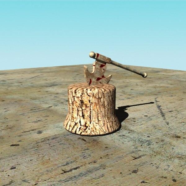 free 3ds model axe