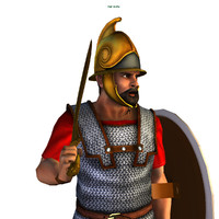 3d carthaginian hoplite model