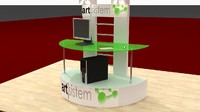3d model service display stand