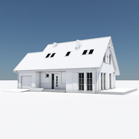 single house garage 3d max