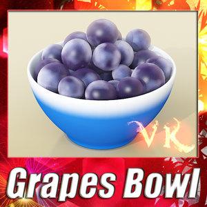 3d fruit basket bowl black