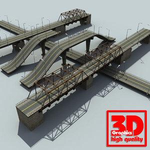 3d model road bridge