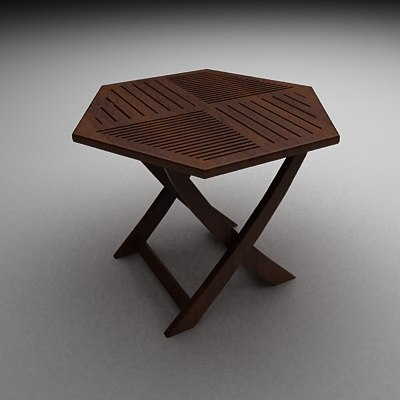 Charming Diamond Shaped Table 3d Model