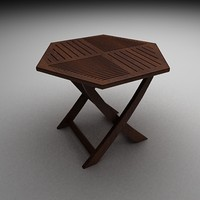 diamond-shaped table 3d model