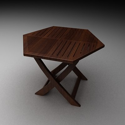 Diamond Shaped Table 3d Model