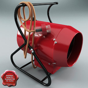 3ds max electric portable heat blower