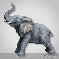 3dsmax elephant sculpture
