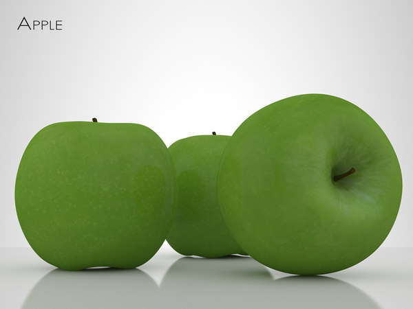 3d model of apple