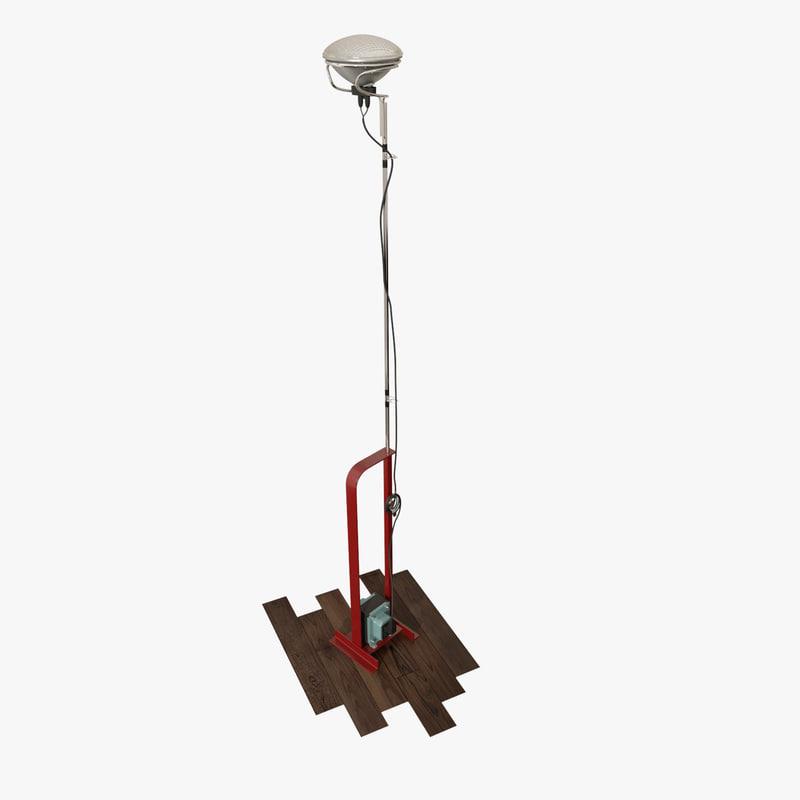 3d model modern floor light toio