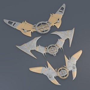 pins steampunk 3d model