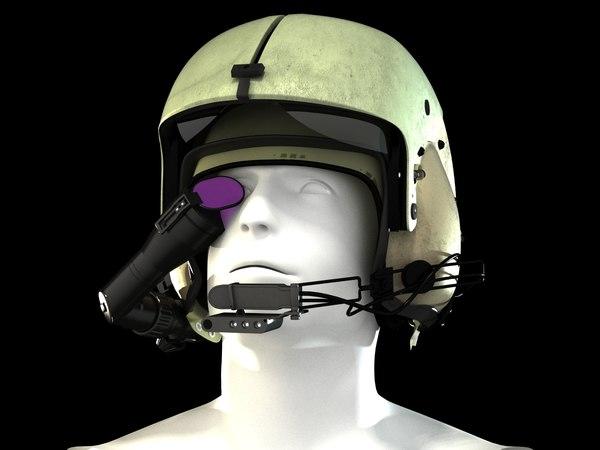 3ds apache ah-64 pilot helmet
