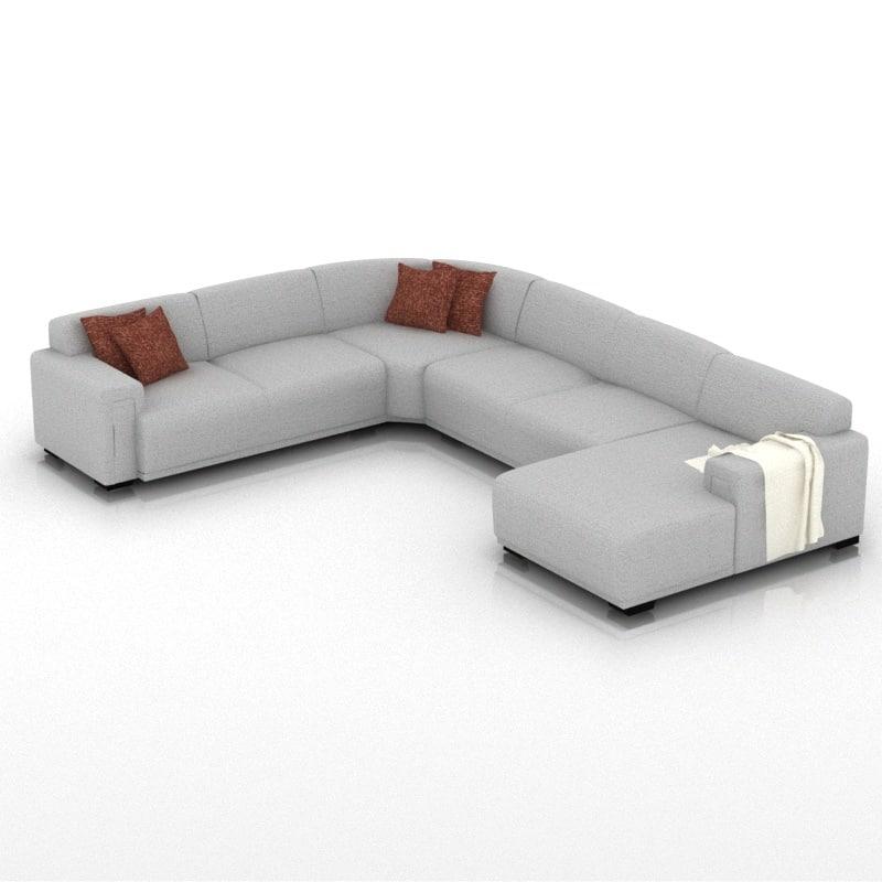 3d 6 sofa model