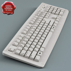 keyboard modelled 3d max