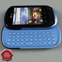 LG C550 Optimus Chat Blue